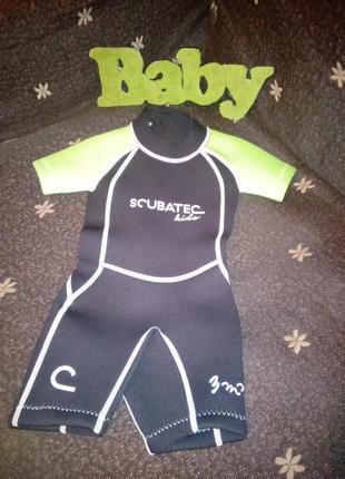 Костюм для дайвинга детский костюм для плавания гидрокостюм размер  xxxs