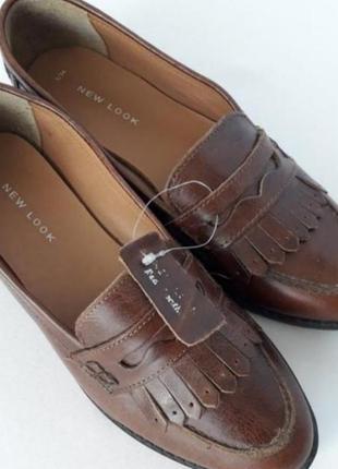 Новые туфли лоферы 36