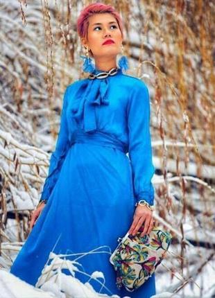 Zara платье с бантом , xs, s, m