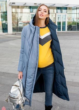 Зимнее двухстороннее пальто для беременных