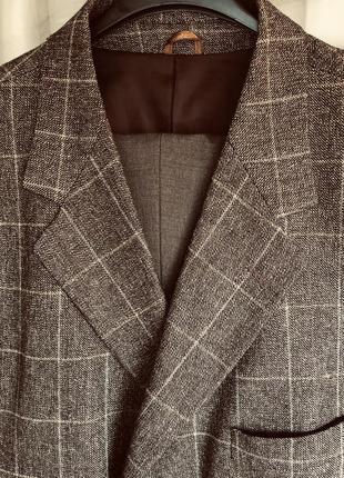 Шерстяной итальянский костюм 54-56 размера bachini, romano botta