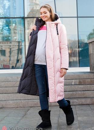 Двухстороннее зимнее пальто для беременных