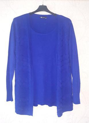 Свитер женский, шерстяной, кофта большой размер, светр шерстяний, шерсть xl-2xl
