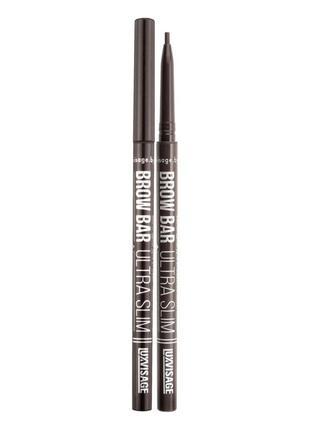 Механический карандаш для бровей brow bar ultra slim luxvisage с тонким грифелем тон — 303