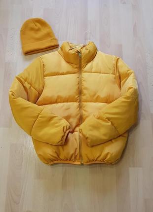 Зимняя куртка оверсайз, пуховая короткая куртка , зимова куртка s-m