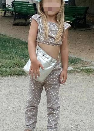 Костюм на девочку топ+штаны