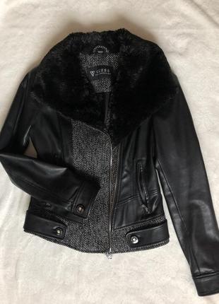Кожаная куртка кожанка guess
