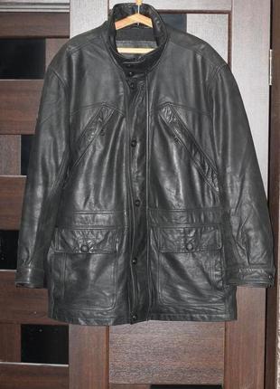 Утепленная куртка из натуральной кожи canda