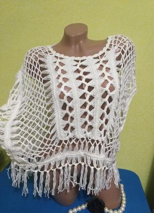 Ажурная блузка оверсайз с биркой