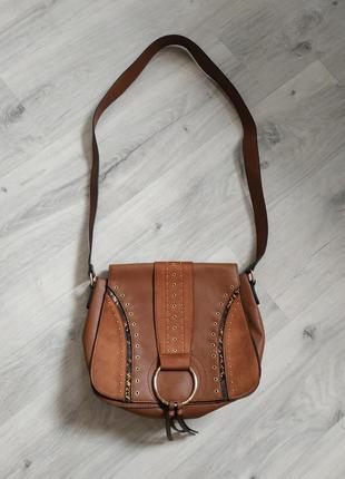 Красивая женская сумка, сумочка с длинным ремешком, состояние новой