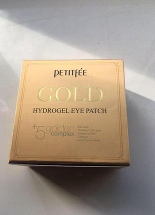 Petitfee гидрогелевые патчи для глаз gold