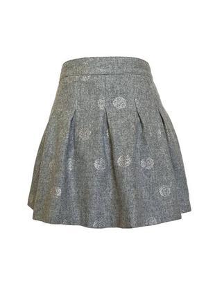 Стильная шерстяная юбка-колокол с напылением h&m divided, s