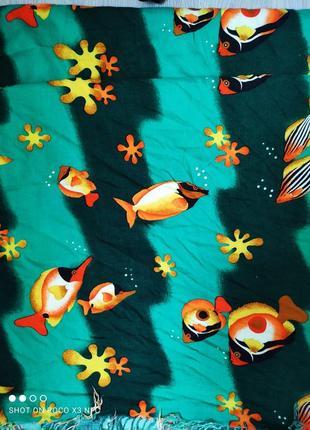Парео шарф шаль палантин с рыбками