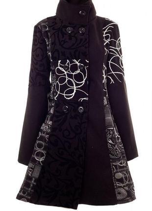 Стильное тренч пальто с воротником-стойкой в стиле пэчворк италия