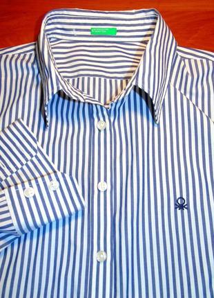 Benetton шикарная брендовая рубашка - xxl - xl