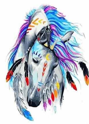 """Картина по номерах """"кінь індіго"""""""