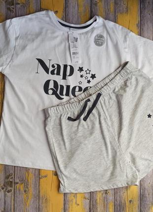 Пижама футболка и шорты для девочки george, (140-146см)