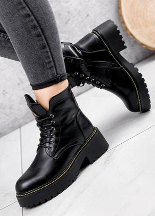 Ботинки женские tom черные зима