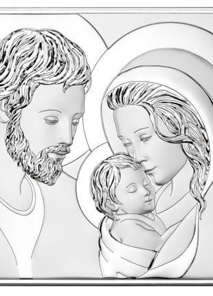 Ікона срібна свята родина| серебряная икона святая родня