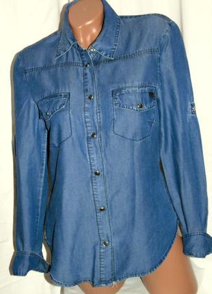 Mango шикарная джинсовая рубашка - m - s