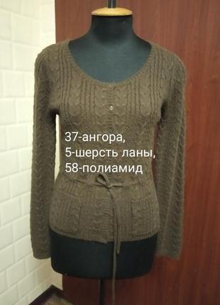 Шерстяная ангоровая кофточка свитер.