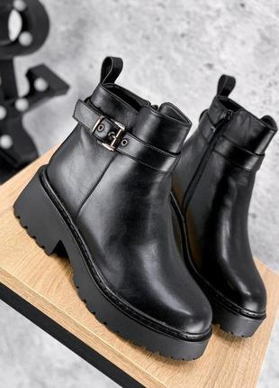 Ботинки женские dana черные зима
