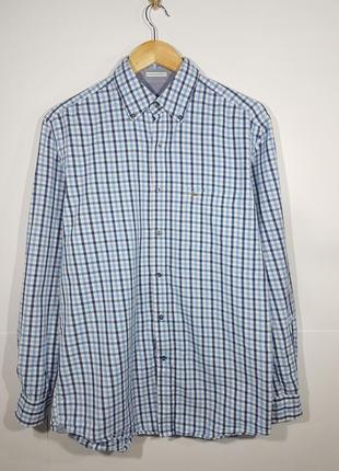 Рубашка мужская в клетку клетчатая lacoste 41 m l