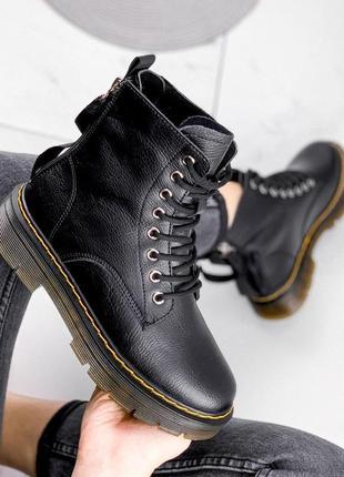 Ботинки женские darcy черные зима натуральная кожа