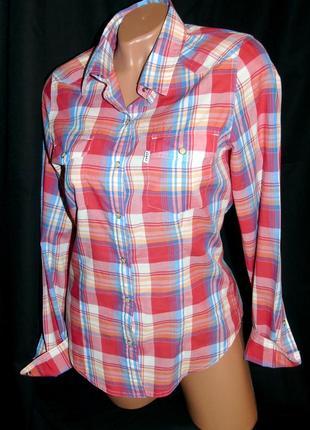 Levis шикарная брендовая рубашка - s - m