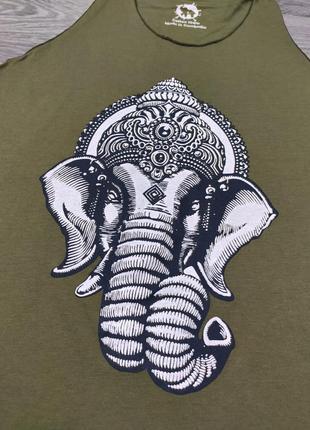 Майка со слоном, принт со слоном, индийский слон