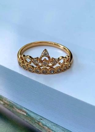 Каблучка корона принцеси /кольцо корона принцессы