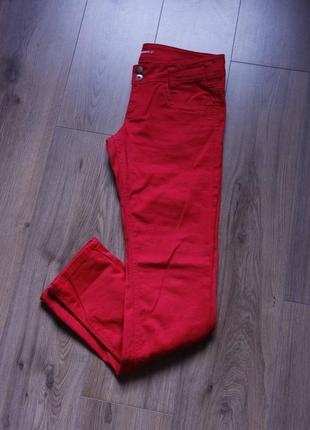 Червоні джинси прямі низька посадка