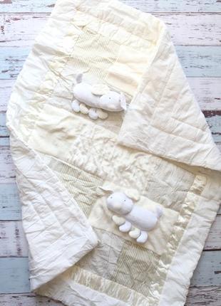 Laura милое одеялко в кроватку с разной текстурой + игрушка