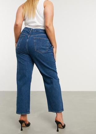 1+1=3 брендовые женские прямые синие джинсы dolce&gabbana, размер 48 - 50