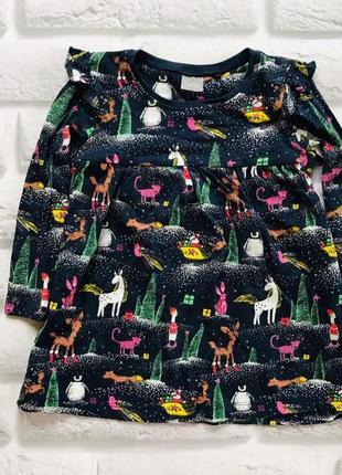Next стильное новогоднее платье на девочку 12-18 мес