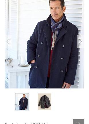 Мужское шерстяное пальто новое 4хл