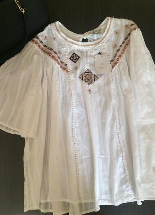Хлопковая вышиванка 💥 большой размер блуза