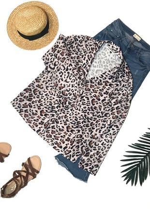 Рубашка блуза блузка леопард ecowish s/44