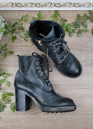 🌿36🌿европа🇪🇺 via mastra. италия. кожа. фирменные классные ботинки