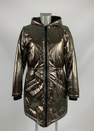 Женская зимняя курточка / золотистого цвета