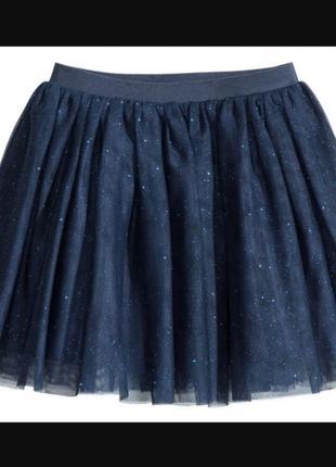 Нарядная фатиновая юбка на девочку с блёстками