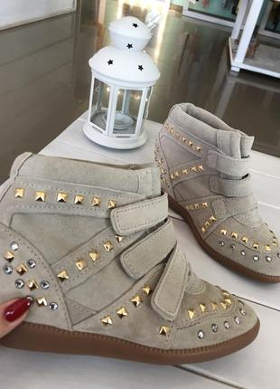 Брак замшевые сникерсы schutz wedge fashion sneaker оригинал сша