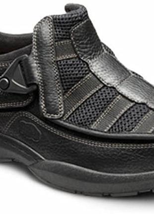 Кожаные глубокие ортопедические туфли