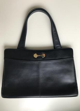 Винтажный ридикюль винтаж ретро темно-синяя сумка