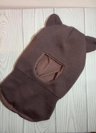 Шапка шлем капор балаклава с ушками talvi