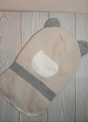 Шлем капор демисезонный осенний с ушками