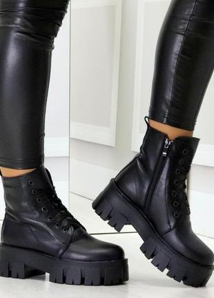 Ботинки кожаные, ботинки зимние