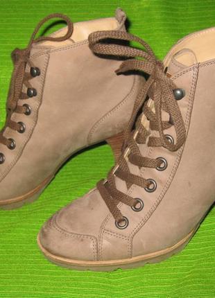 Ботинки paul green ,р.38  стелька 25,5см кожа
