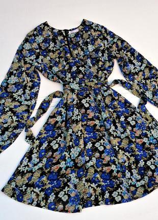 Платье в цветочный принт шифоновое