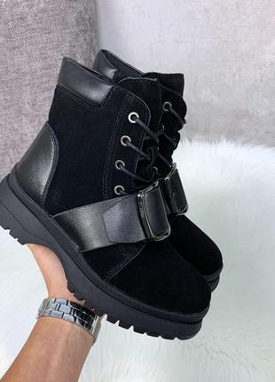 Ботинки кожаные, ботинки зимние, ботинки замшевые